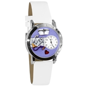 Nurse Purple Watch Small Silver Style