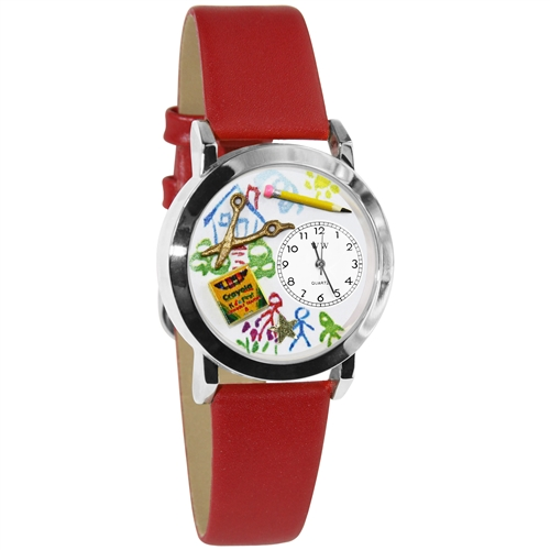 Preschool Teacher Watch Small Silver Style