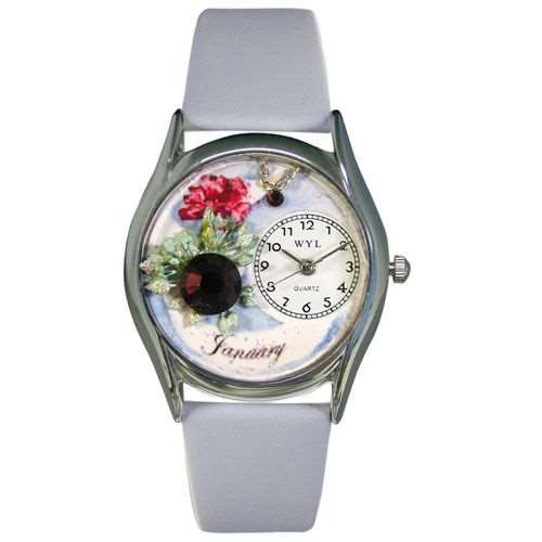 Birthstone Jewelry: January Birthstone Watch Small Silver Style