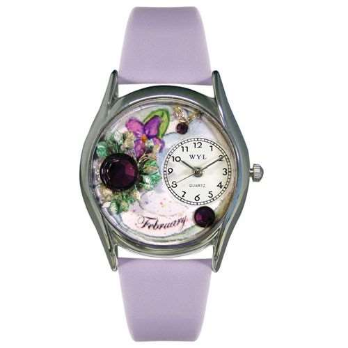Birthstone Jewelry: February Birthstone Watch Small Silver Style