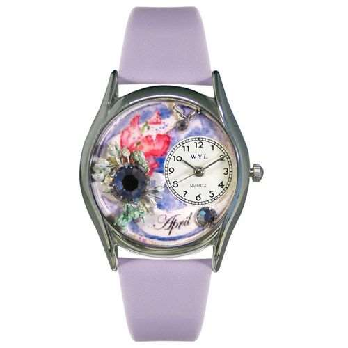 Birthstone Jewelry: April Birthstone Watch Small Silver Style