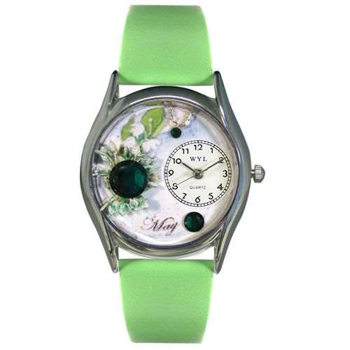 Birthstone Jewelry: May Birthstone Watch Small Silver Style