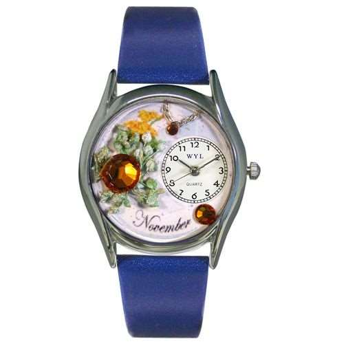 Birthstone Jewelry: November Birthstone Watch Small Silver Style
