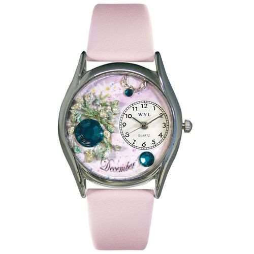 Birthstone Jewelry: December Birthstone Watch Small Silver Style