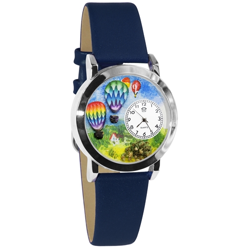 Hot Air Balloons Watch Small Silver Style