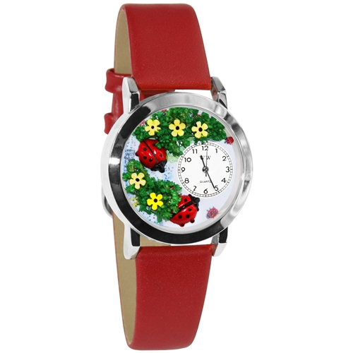 Ladybugs Watch Small Silver Style