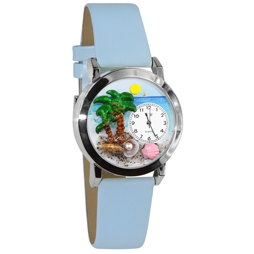 Palm Tree Watch Small Silver Style
