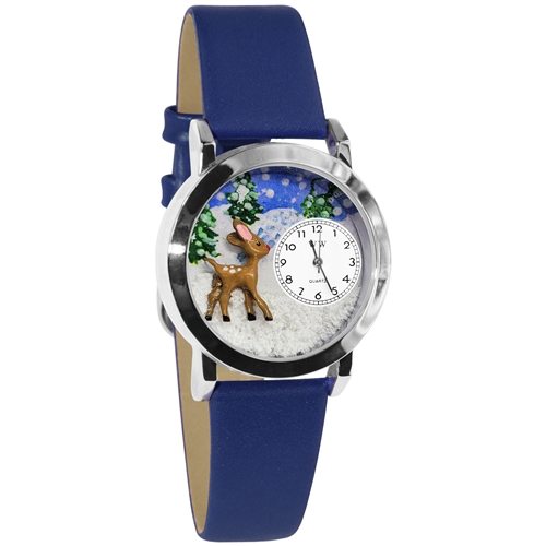 Christmas Reindeer Watch Small Silver Style
