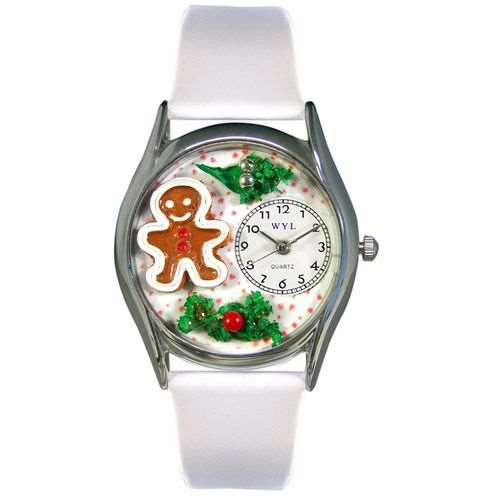 Christmas Gingerbread Watch Small Silver Style