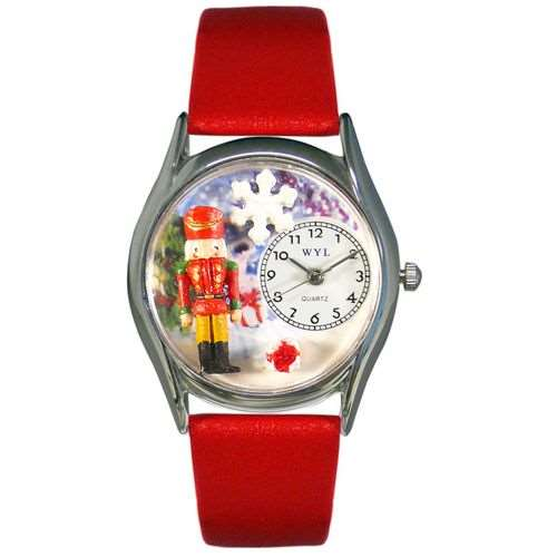 Christmas Nutcracker Watch Small Silver Style
