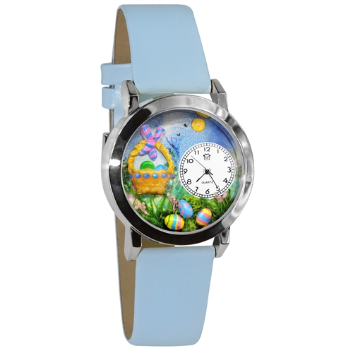 Easter Eggs Watch Small Silver Style