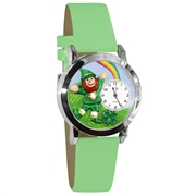 St. Patrick's Day Watch (Rainbow) Small Silver Style