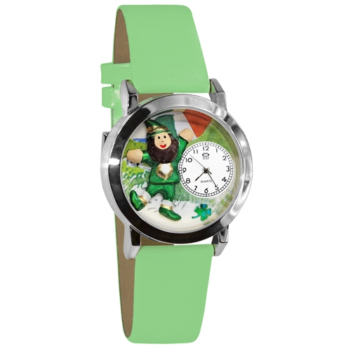 St. Patrick's Day Watch (Irish Flag) Small Silver Style