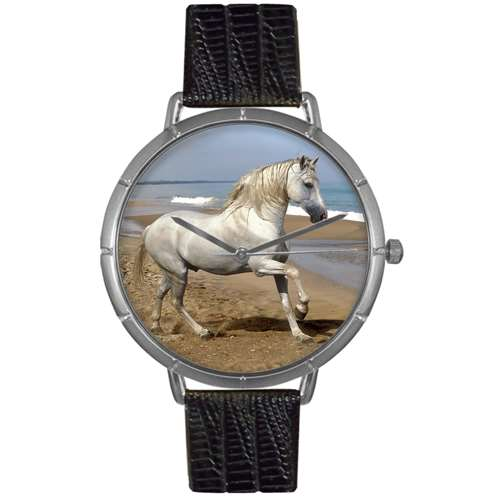Andalusian Horse Print Watch in Silver Large