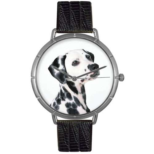 Dalmatian Print Watch in Silver Large