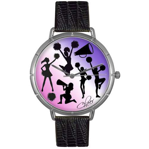Cheerleading Lover Print Watch Large Silver