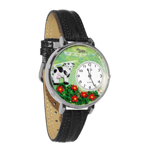 Cow Watch in Silver (Large)