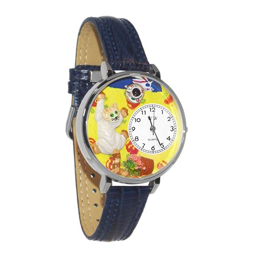 Bad Cat Watch in Silver (Large)