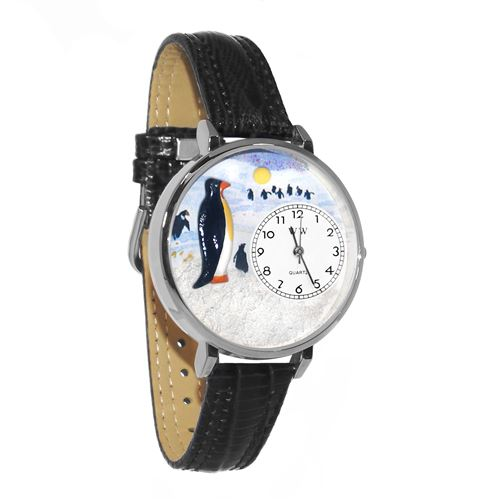 Penguin Watch in Silver (Large)