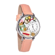 Dessert Lover Watch in Silver (Large)
