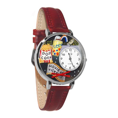 Movie Lover Watch in Silver (Large)