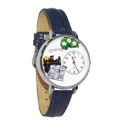 Quilting Watch in Silver (Large)