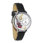Electric Guitar Watch in Silver (Large)