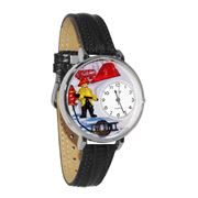 Firefighter Watch in Silver (Large)