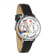 Physical Therapist Watch in Silver (Large)