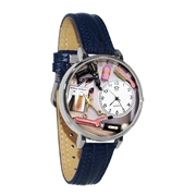 Beautician Female Watch in Silver (Large)