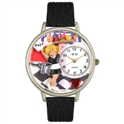 Waitress Watch in Silver (Large)
