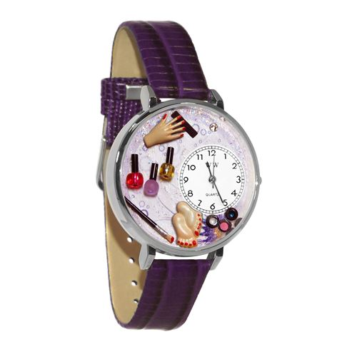 Nail Tech Watch in Silver (Large)