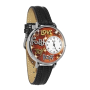 Faith Hope Love Joy Watch in Silver (Large)
