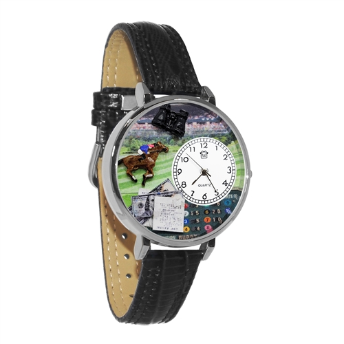 Horse Racing Watch in Silver (Large)