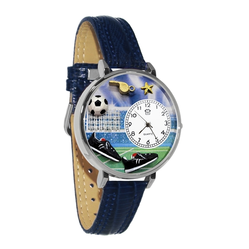 Soccer Watch in Silver (Large)