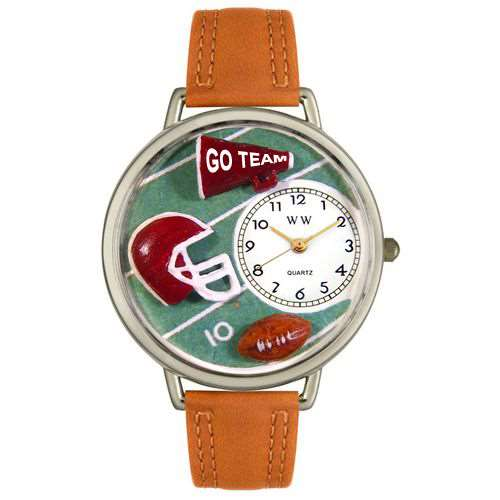 Football Watch in Silver (Large)