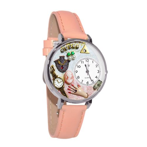 Jewelry Lover Pink Watch in Silver (Large)