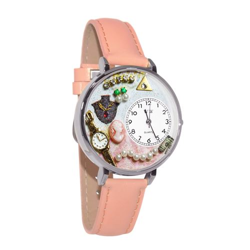 Jewelry Lover Pink Pearls Watch in Silver (Large)