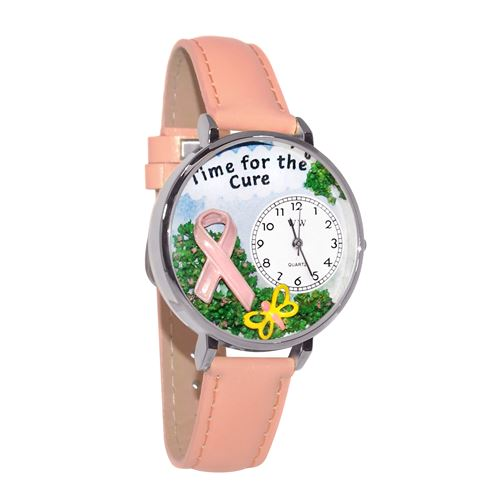 Time for the Cure Watch in Silver (Large)