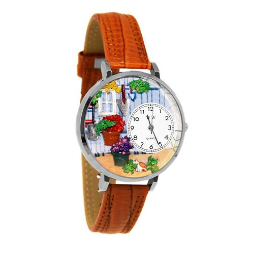 Gardening Watch in Silver (Large)