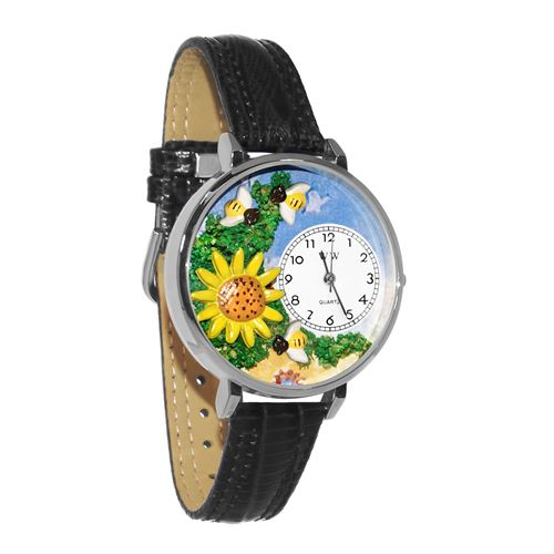Sunflower Watch in Silver (Large)
