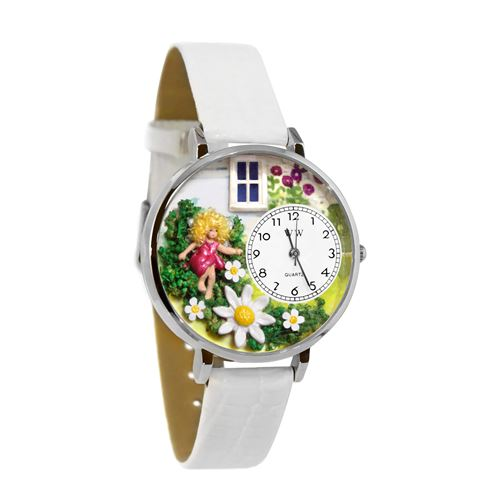 Daisy Fairy Watch in Silver (Large)