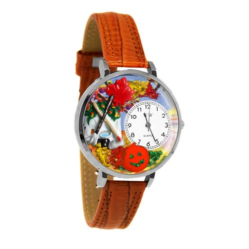 Autumn Leaves Watch in Silver (Large)