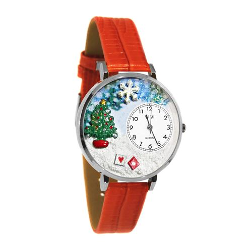 Whimsical gifts christmas tree watch in silver large