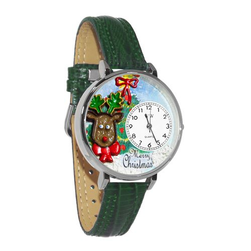 Christmas Reindeer Watch in Silver (Large)