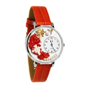 Valentine's Day Watch (Red) in Silver (Large)