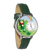 St. Patrick's Day Watch (Rainbow) in Silver (Large)