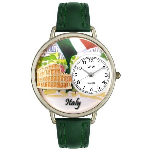 Italy Watch in Silver (Large)