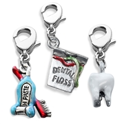 Whimsical Gifts Dental Assistant Charm Bundle in Silver