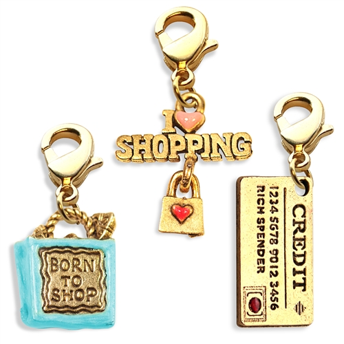 Shopper Mom Charm Bundle in Gold